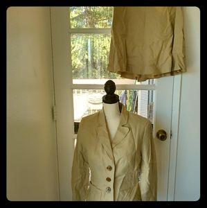 Linen Skirt Set Suit
